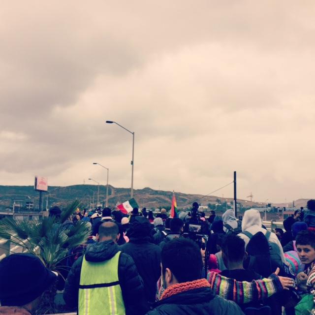 May 2017—the asylum caravan at the Tijuana/San Ysidro border