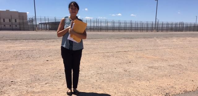 Outside of Eloy Detention Center, Arizona