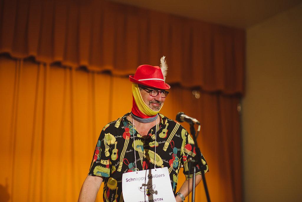 Speller at Adult Spelling Bee Fundraiser