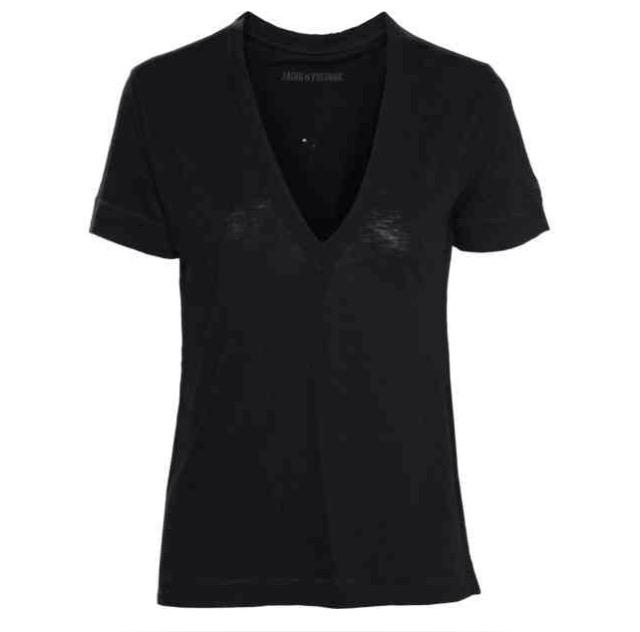 Wassa holes black T shirt