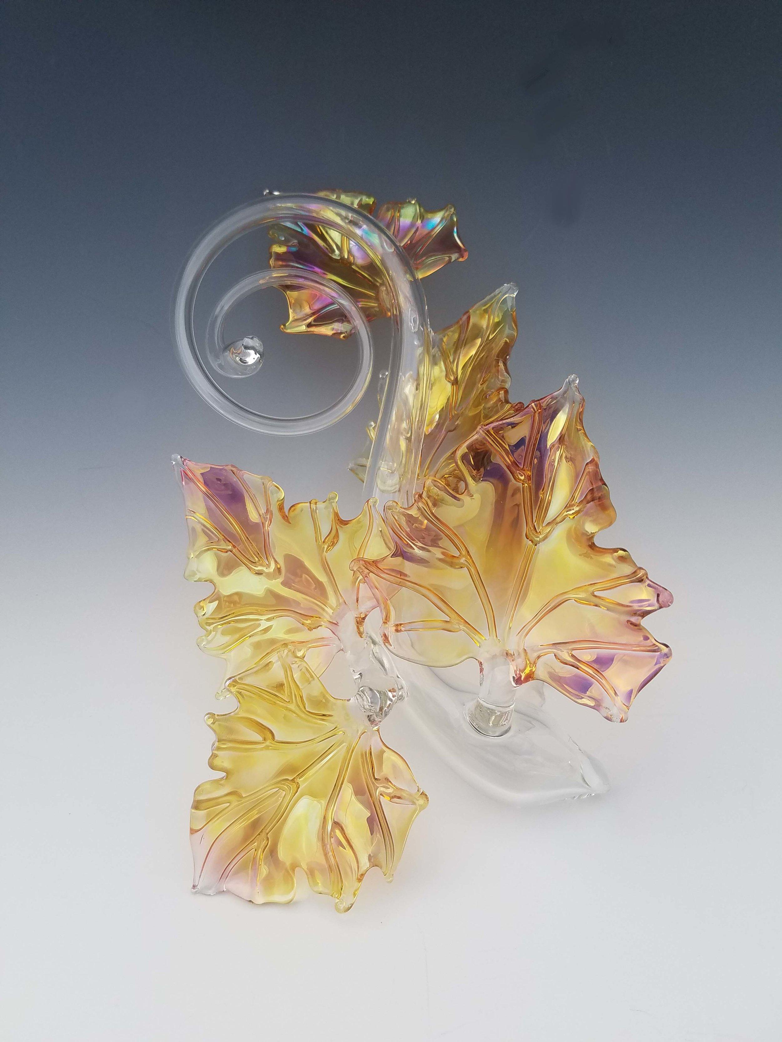 Quin Leaf Sculpture - clear&goldfume.jpg