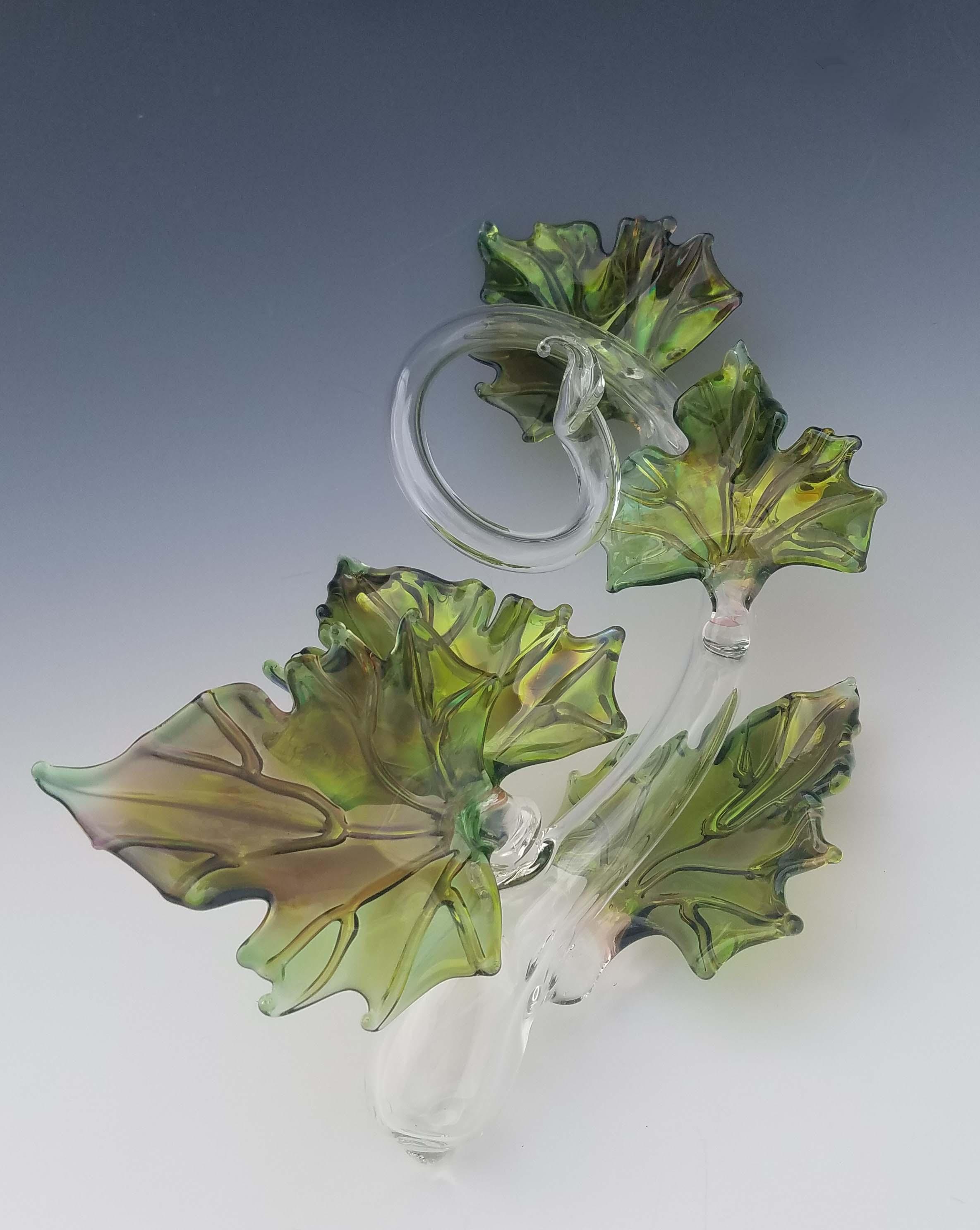 Quin Leaf Sculpture - green front.jpg