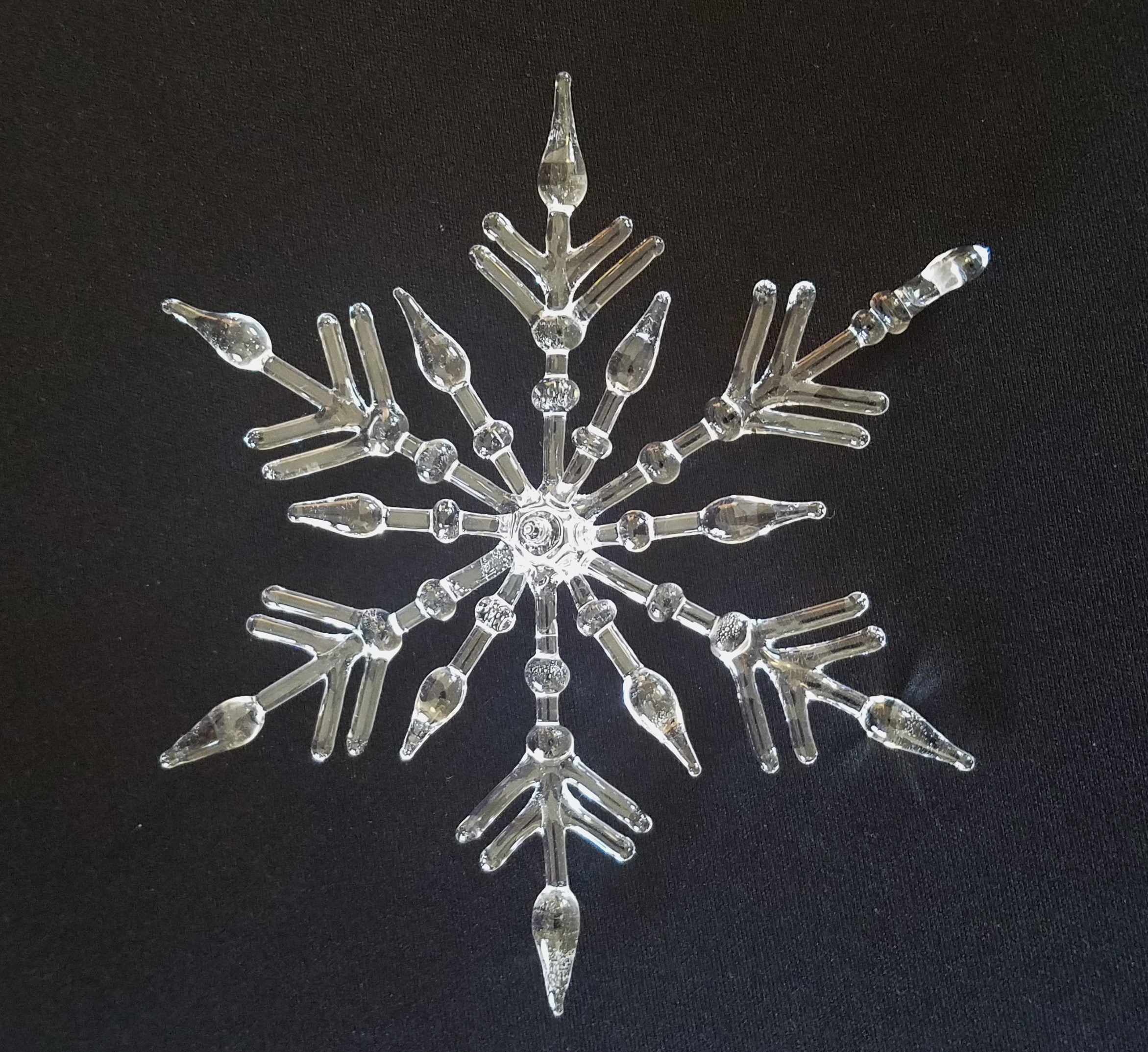 Deluxe Double Layer hand-spun glass snowflake