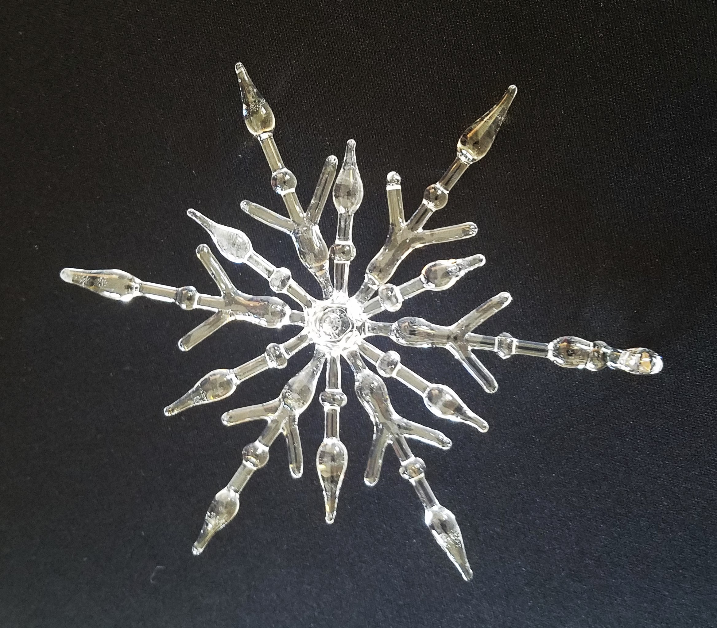 Double Layer glass snowflake
