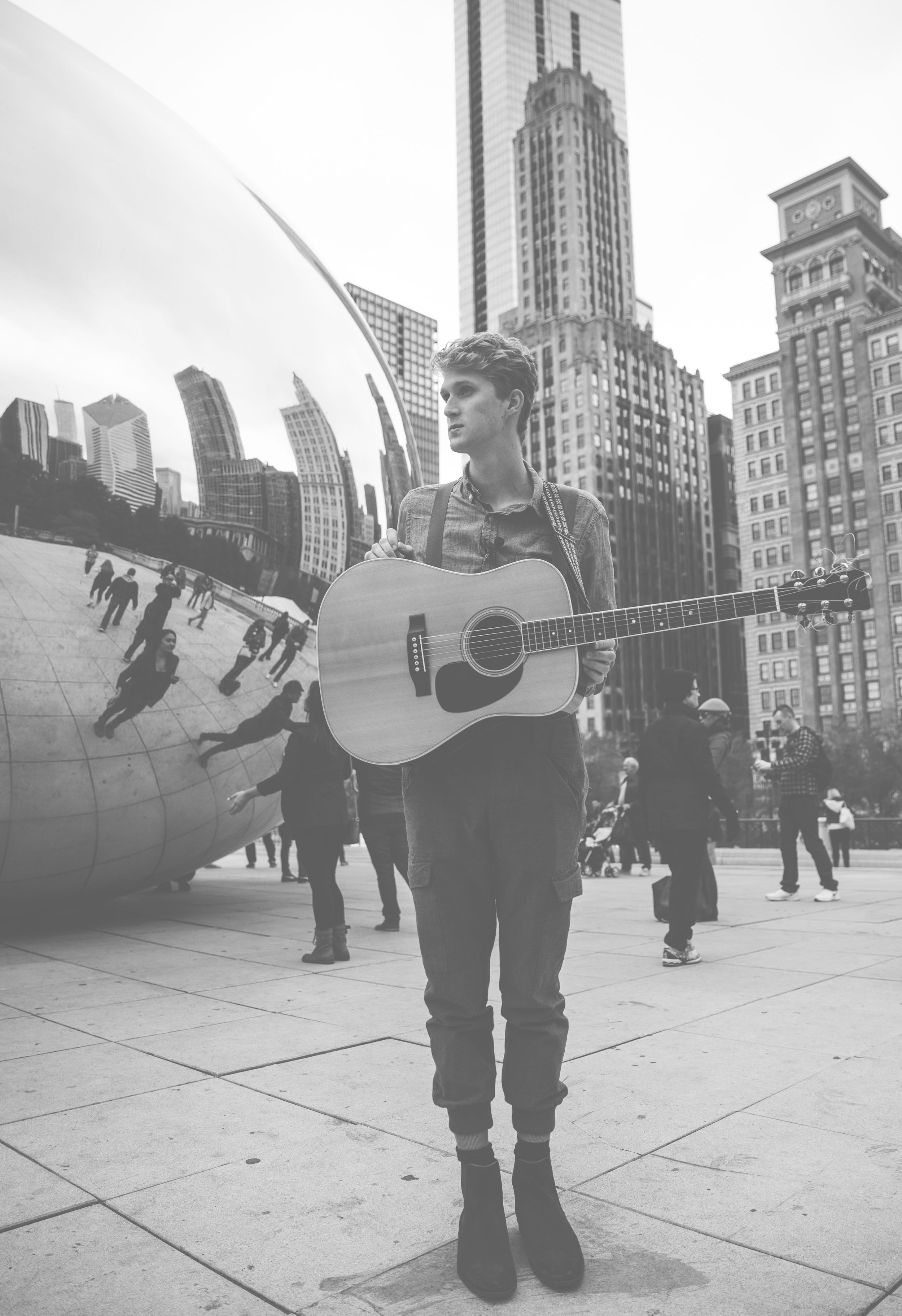 busking on the streets of Chicago. Oct. 2015.