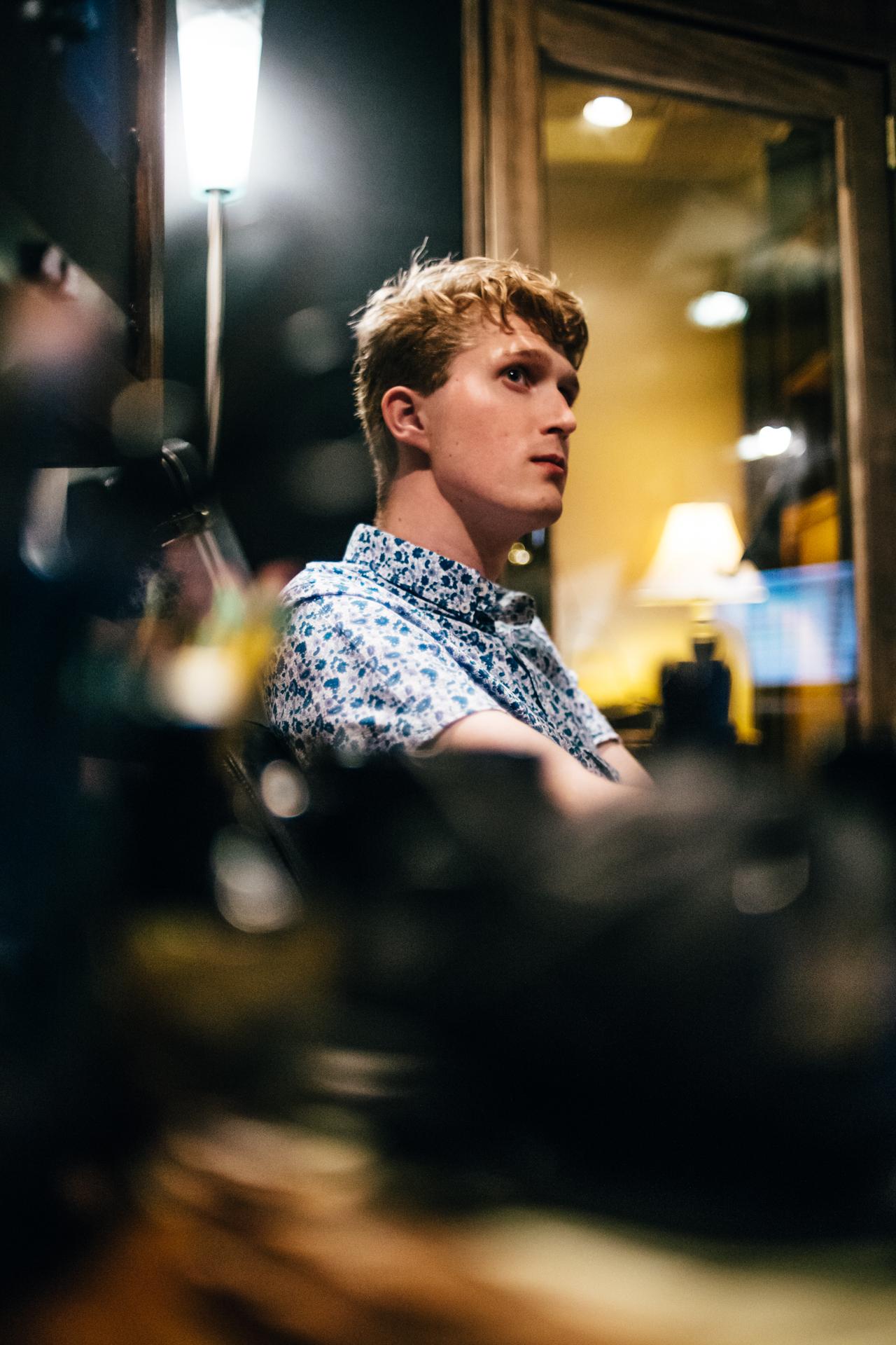 cool blurry shot in studio captured by Tim Duggan. Nashville, TN. May 2016.