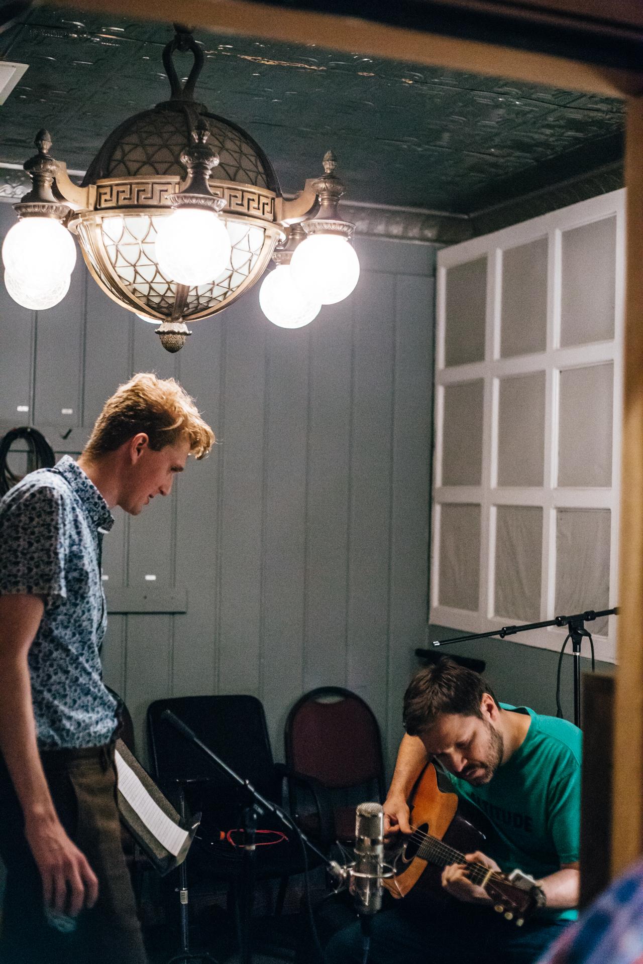 In studio w/ Tom Bukovac. Nashville, TN. May 2016.