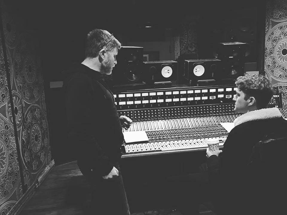 "tracking vocals on ""Brooklyn"" w/ producer Matt Rollings. Nashville, TN. January 2016."