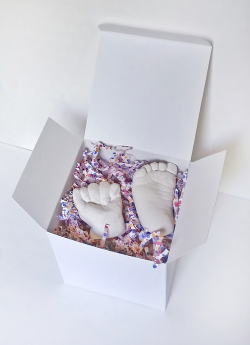 $65  -- One Baby Hand and One Baby Foot (best if babies are asleep during the process so as to reduce movement)*