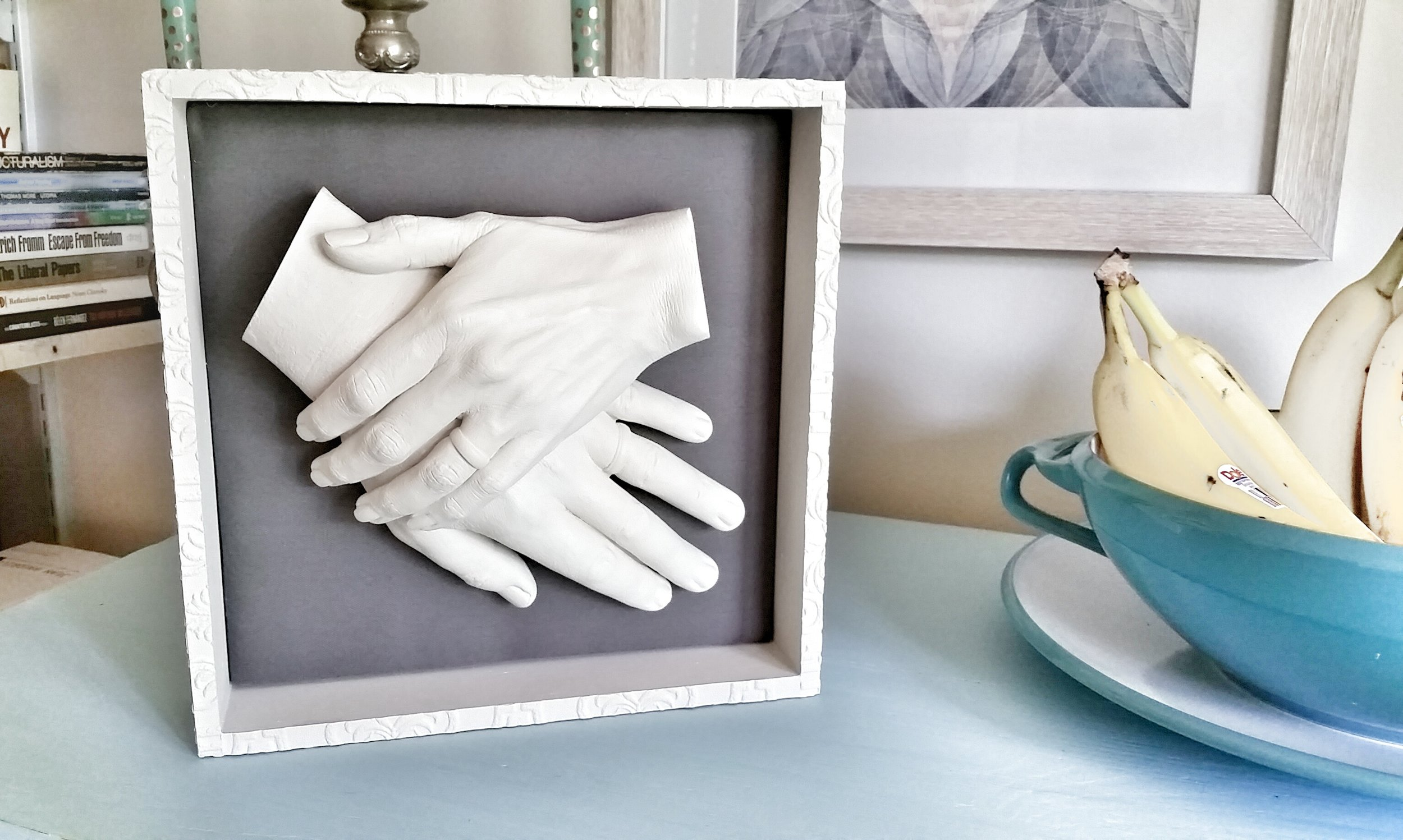 $60 -- Shadow Box for Two Hands, Hangs on Wall (White or Black)