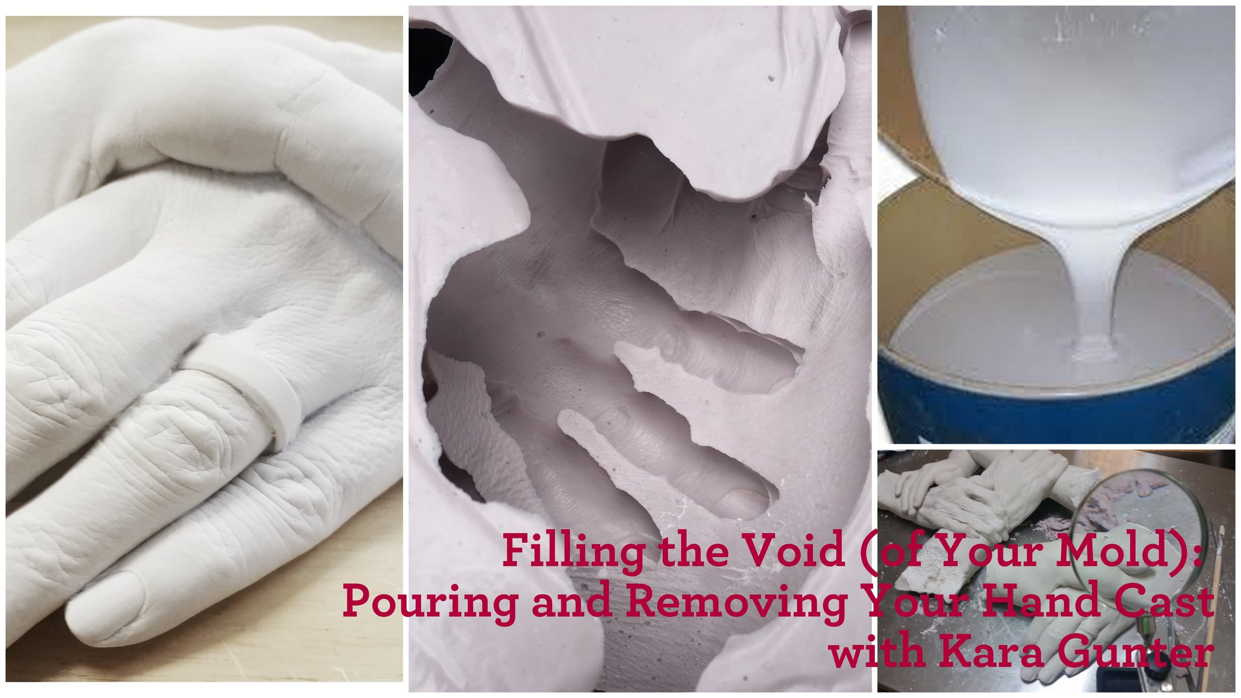 Class Two - Filling the Void (of Your Mold): Pouring and Removing Your Hand CastSkillshare Link:https://skl.sh/2IGFSCr This class is the second in a series of three classes, which will walk you through the process of pouring the mold you made in Making the Mold: The First Step in Making Your Own Hand Cast,and removing your casting from the mold.This series of classes is designed for the absolute beginner, however an adventurous spirit is a must! This thorough series of classes will walk you through making a mold, pouring the mold, and refining the casting. If you are interested in beginning your own hand casting business, you're an artist looking for an accessible introduction to body or life casting, or you want to take your own hand cast for your family or friends to the next level, this is a great place to start.
