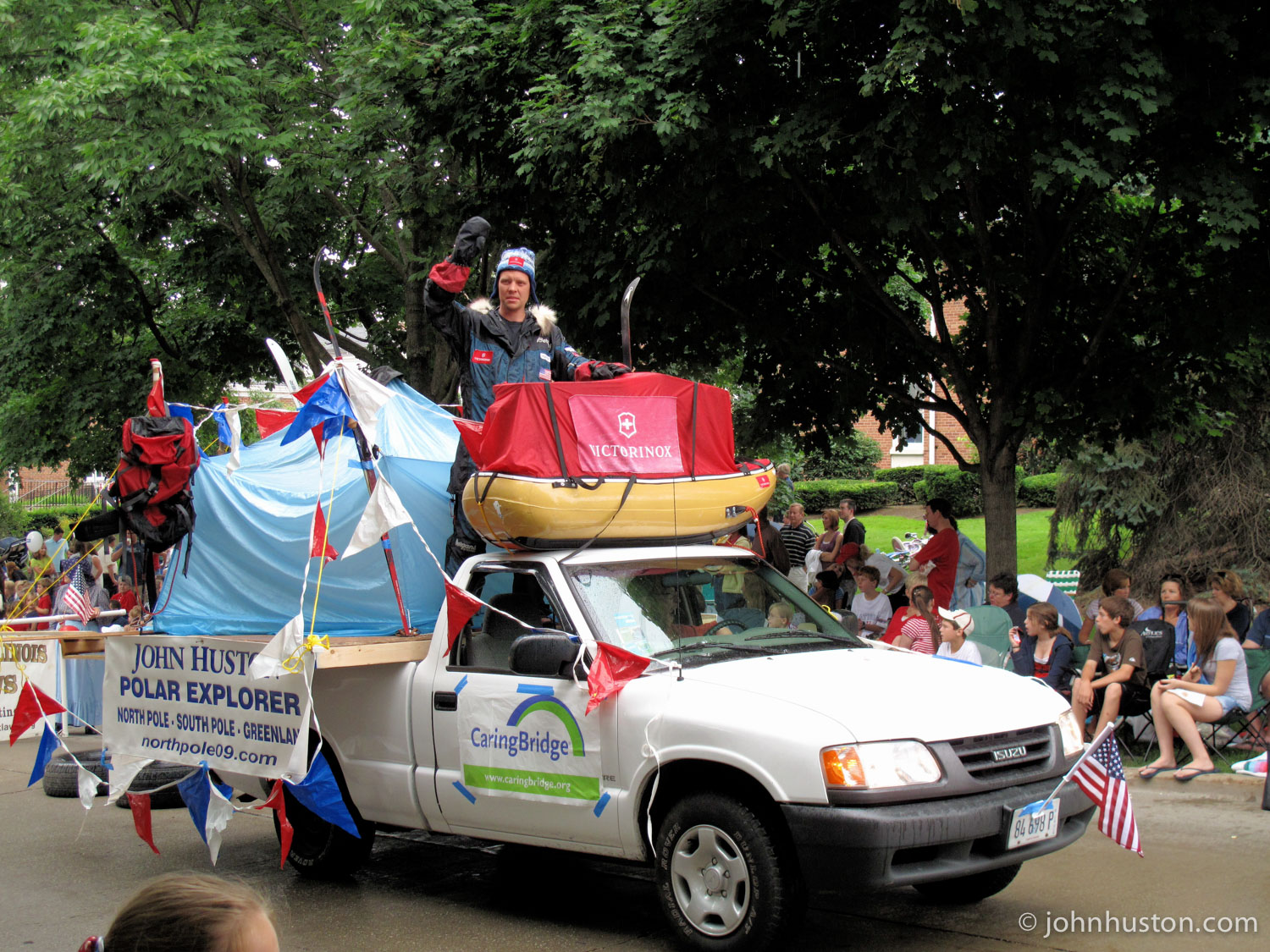 John in his hometown 4th of July parade.