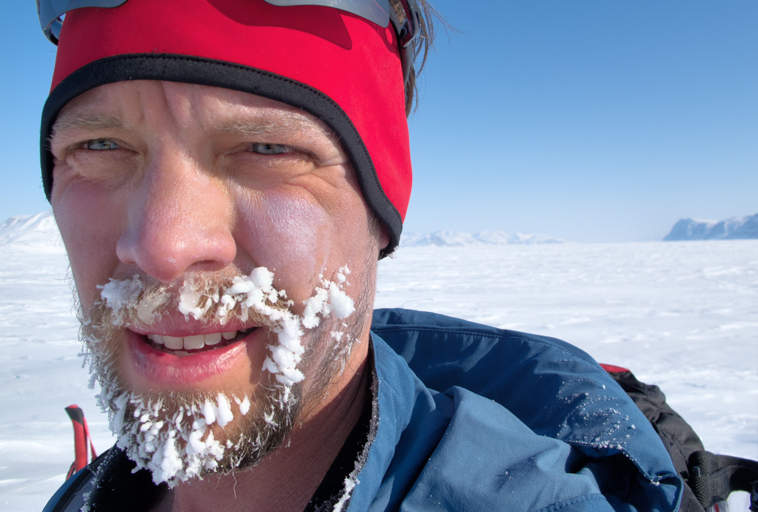 John Huston off the coast of Canada's Ellesmere Island. © John Huston