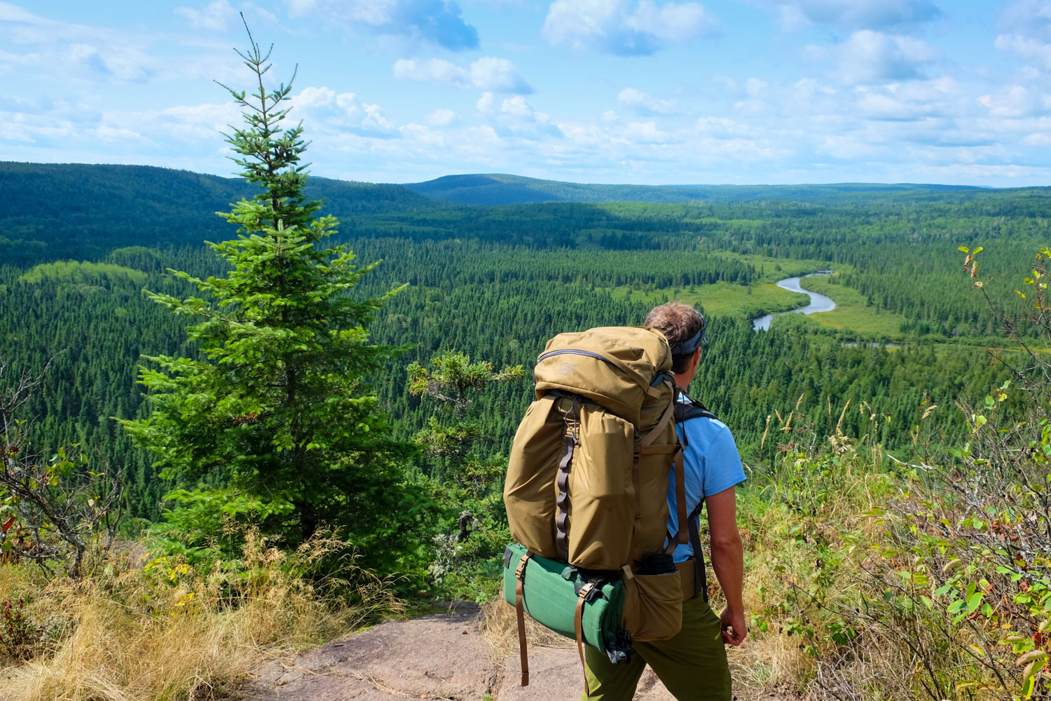 John Huston on the Superior Hiking Trail in northern Minnesota. © John Huston
