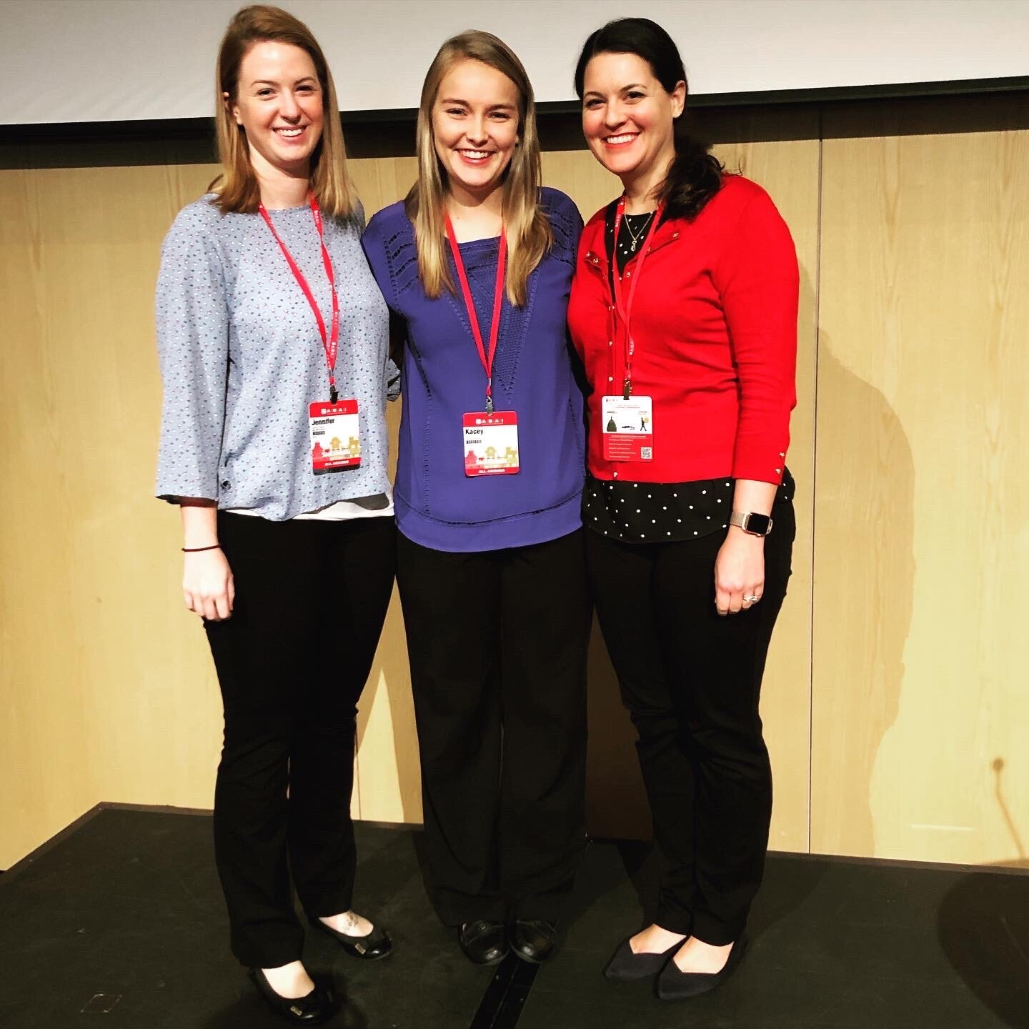 Jenni Owsiany, Kacey Finch, and Dr. Kestner (Left to right) presented a symposium on translational research on choice.