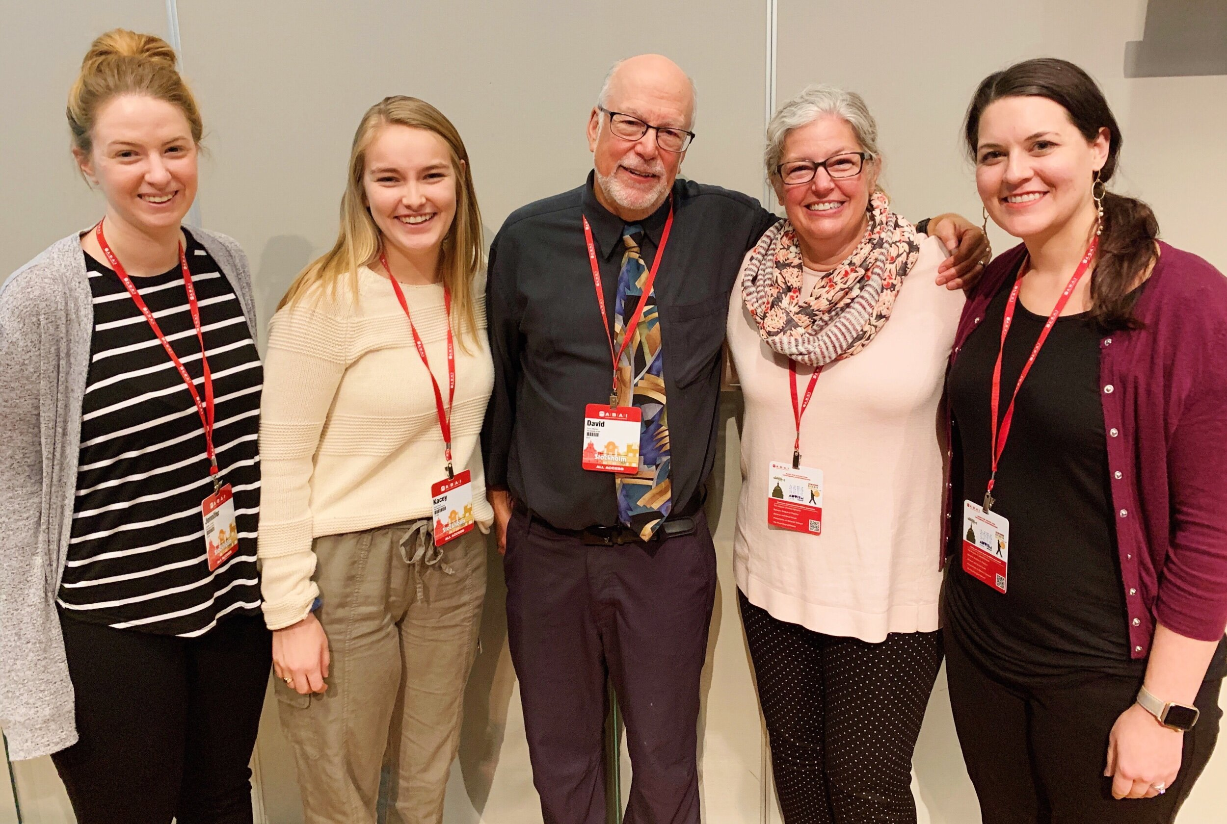 At the conference, we were able to unite 4 generations of the academic family tree. (From left to right: Jenni Owsiany, Kacey Finch, Dave Wacker, Stephanie Peterson, Katie Kestner)