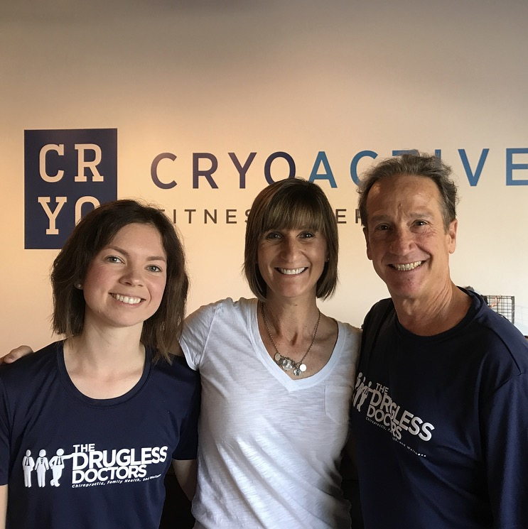 Dr. Casen and Dr. Bob at Cryoactive Fitness