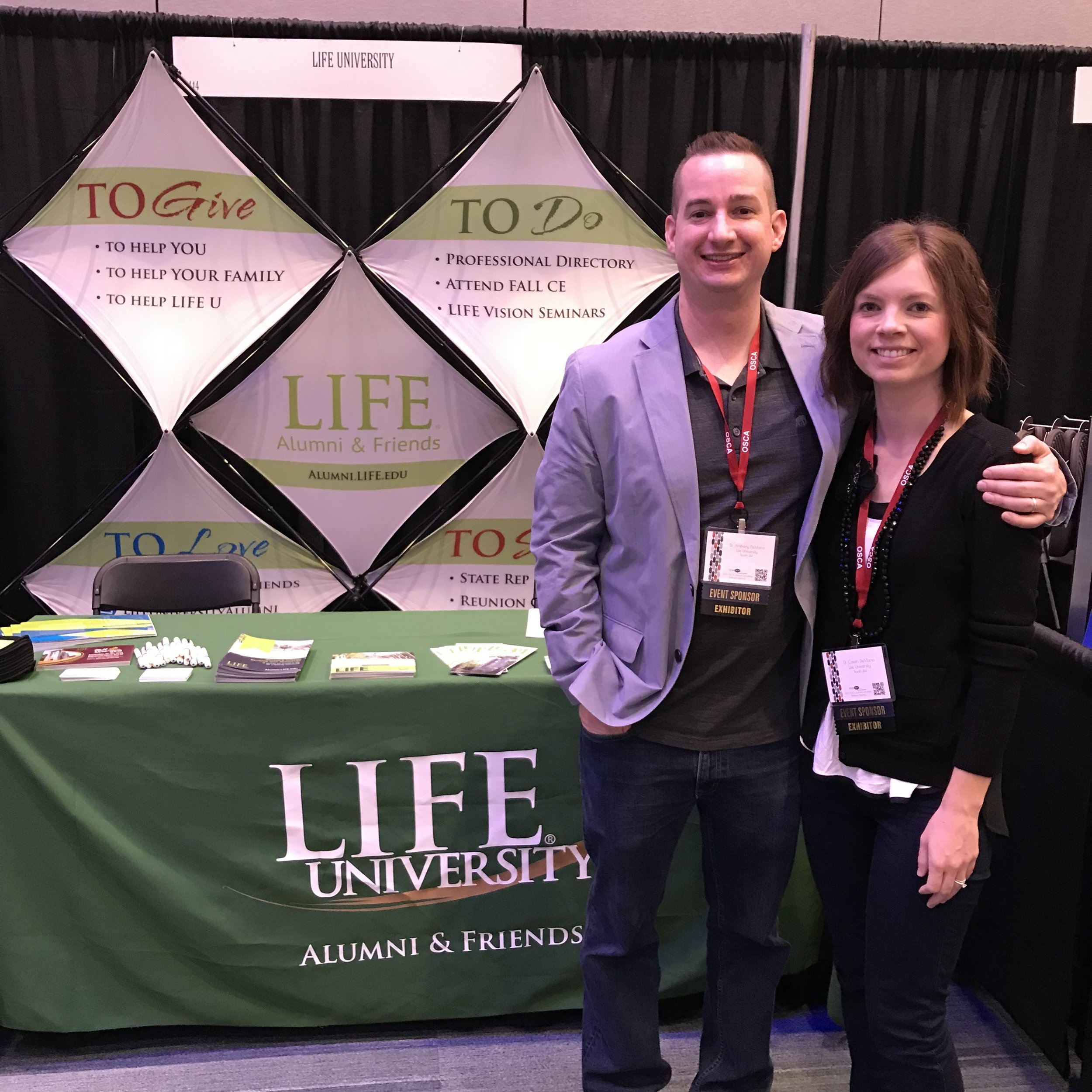Dr. A & Dr. C at the OSCA Convention for Life University