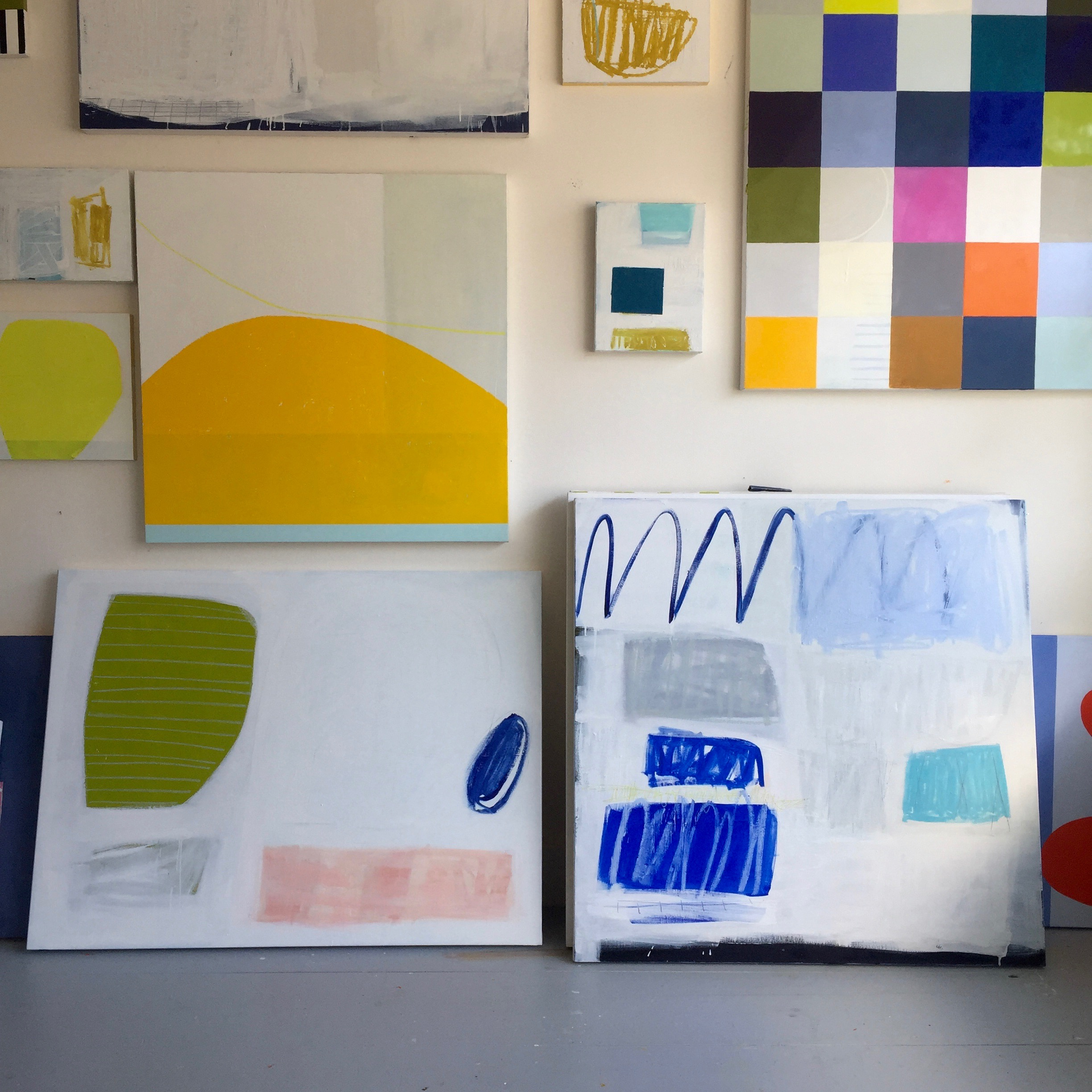 Abstraction No.2 & 3 in studio   Laurie Fisher.jpg