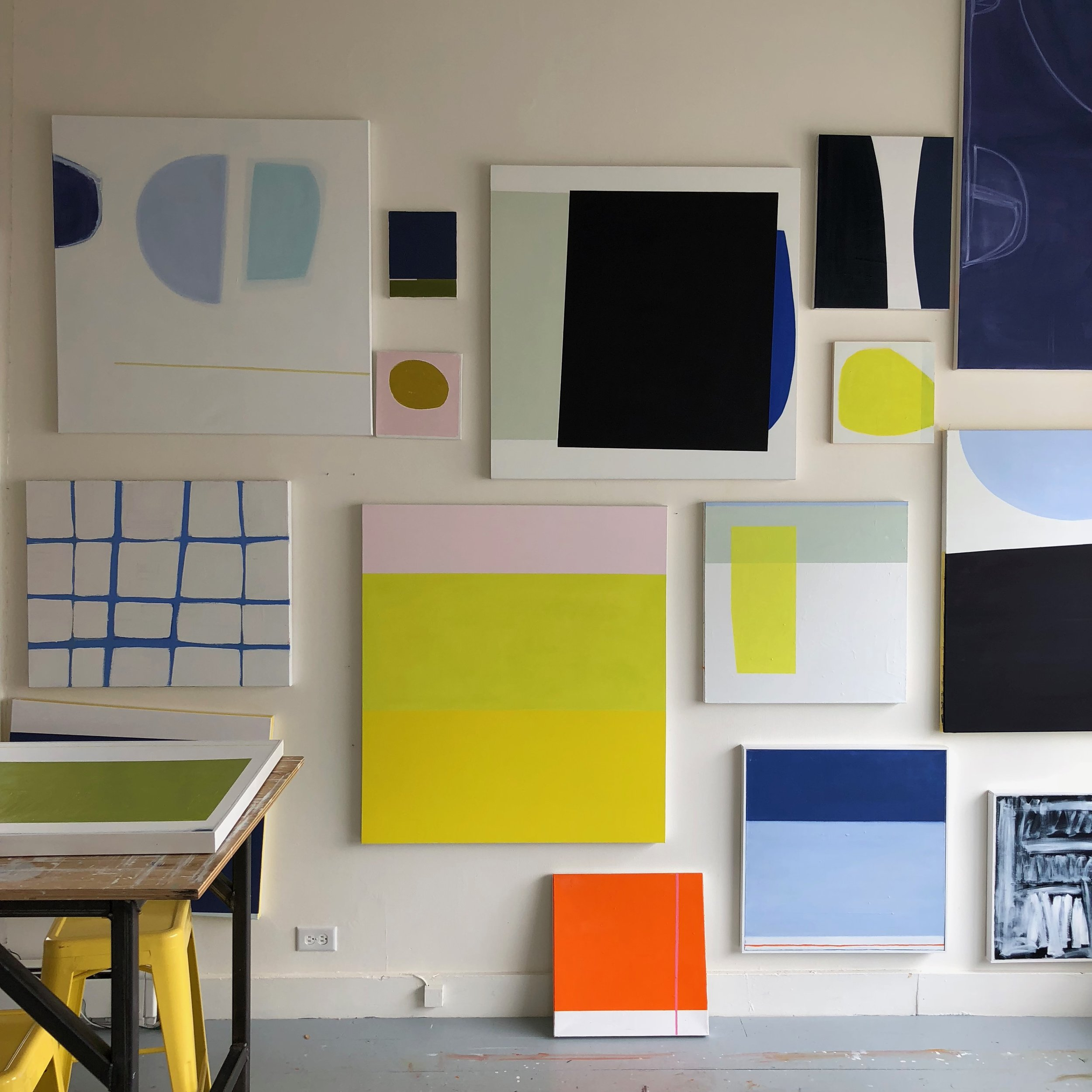 Studio wall April 2018   Laurie Fisher.jpg