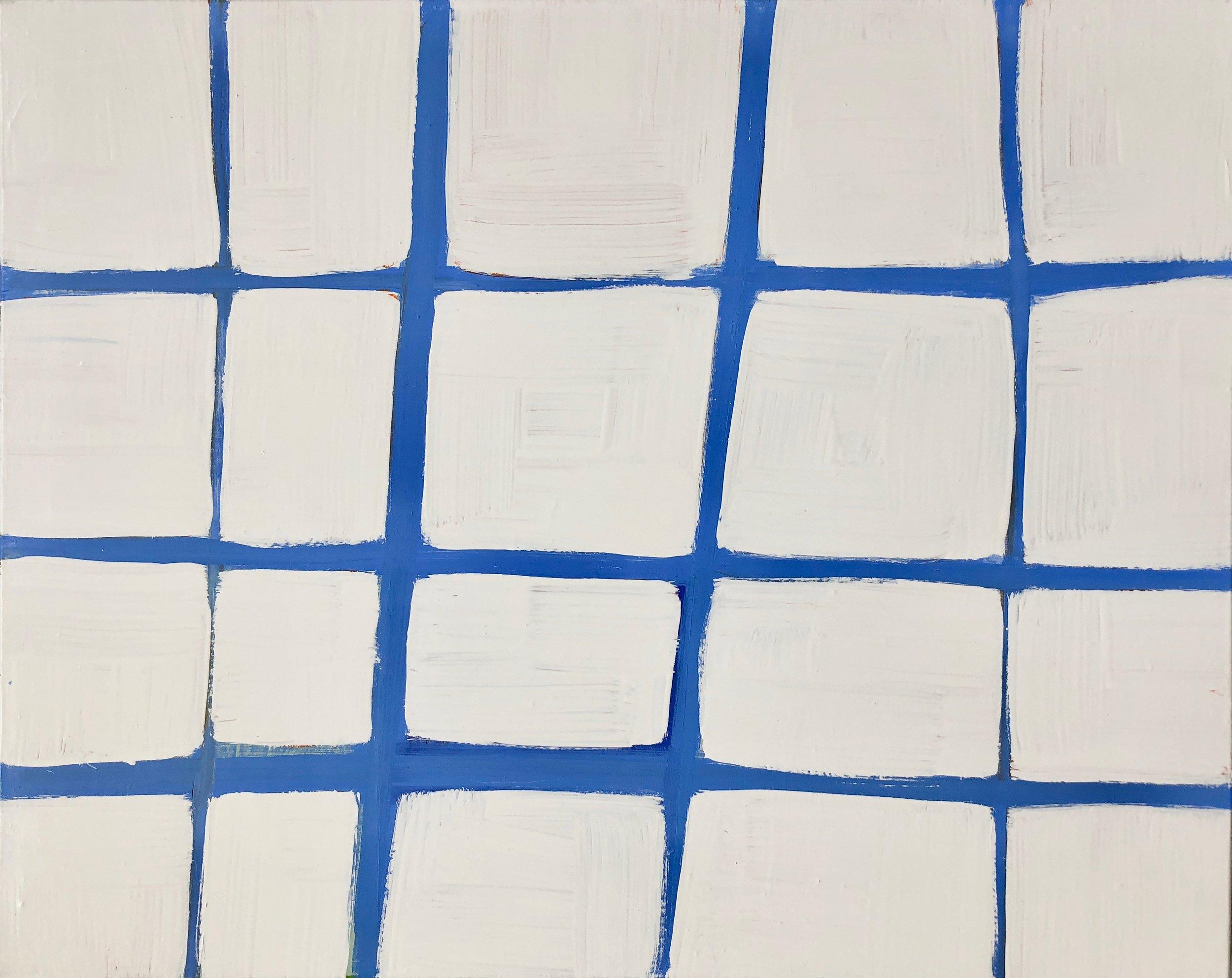 Grid in Blue