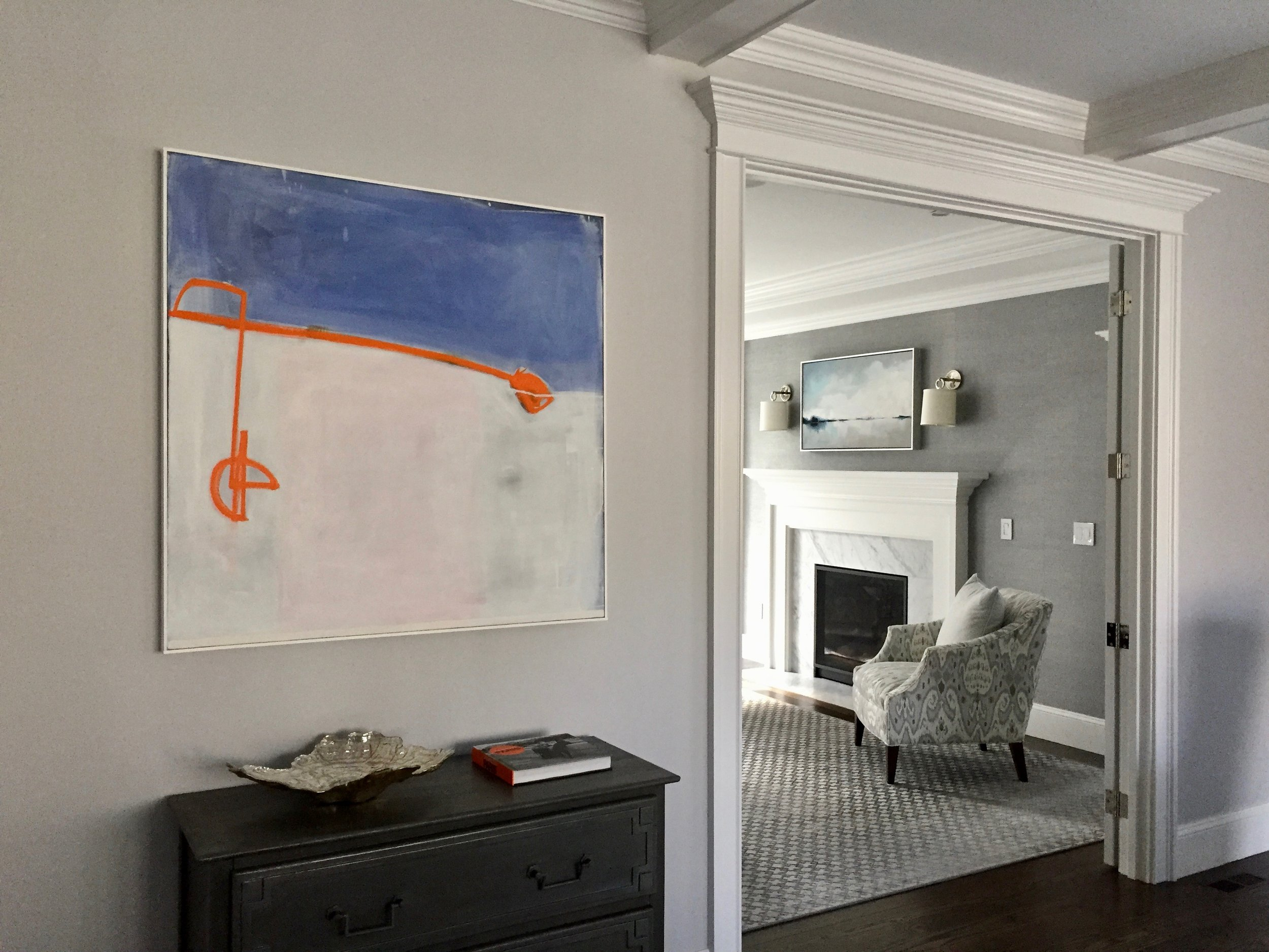 Ziggy, installed in home by Libby Sylvia Artstyle