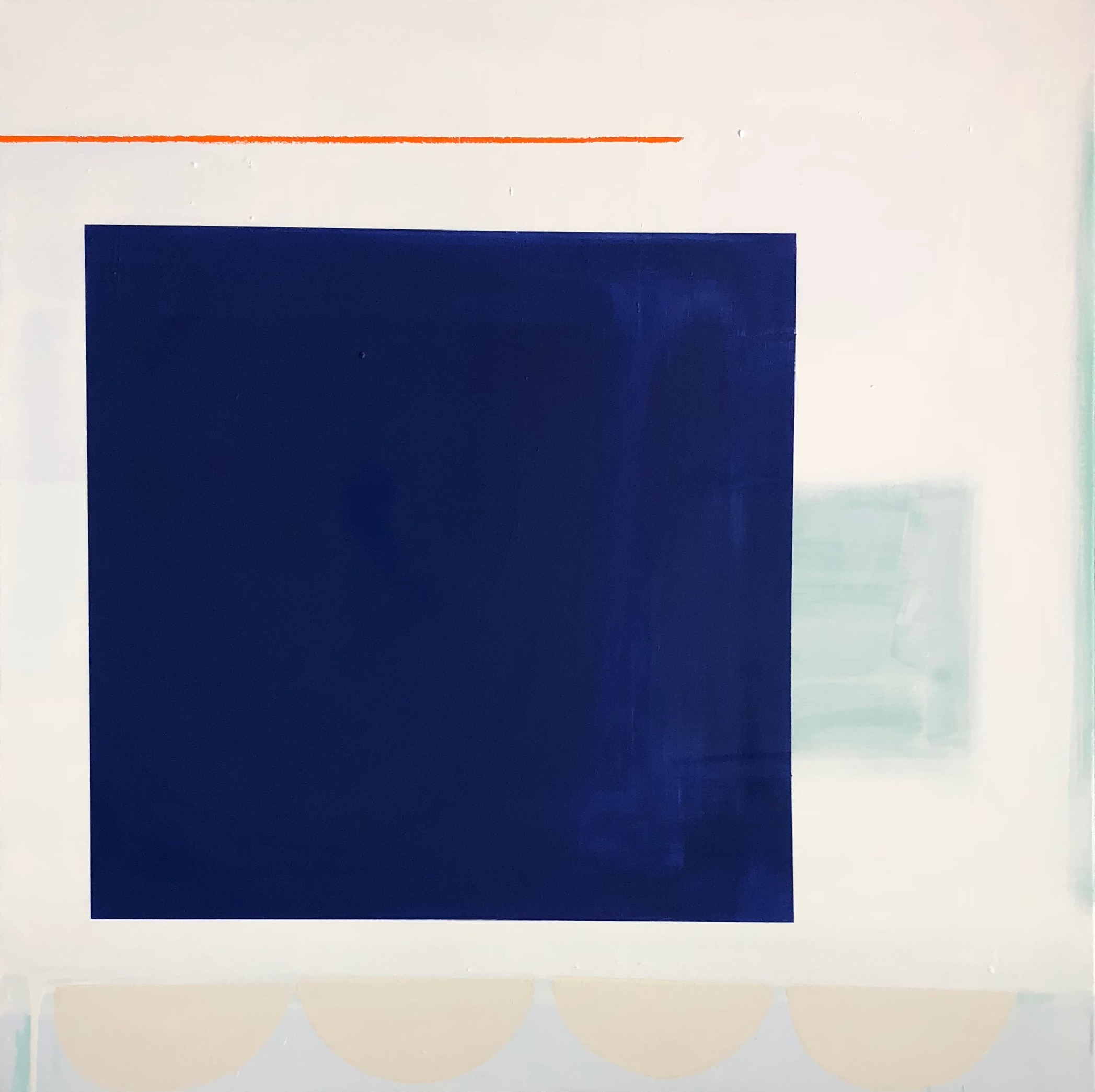 Deep Cobalt with Orange