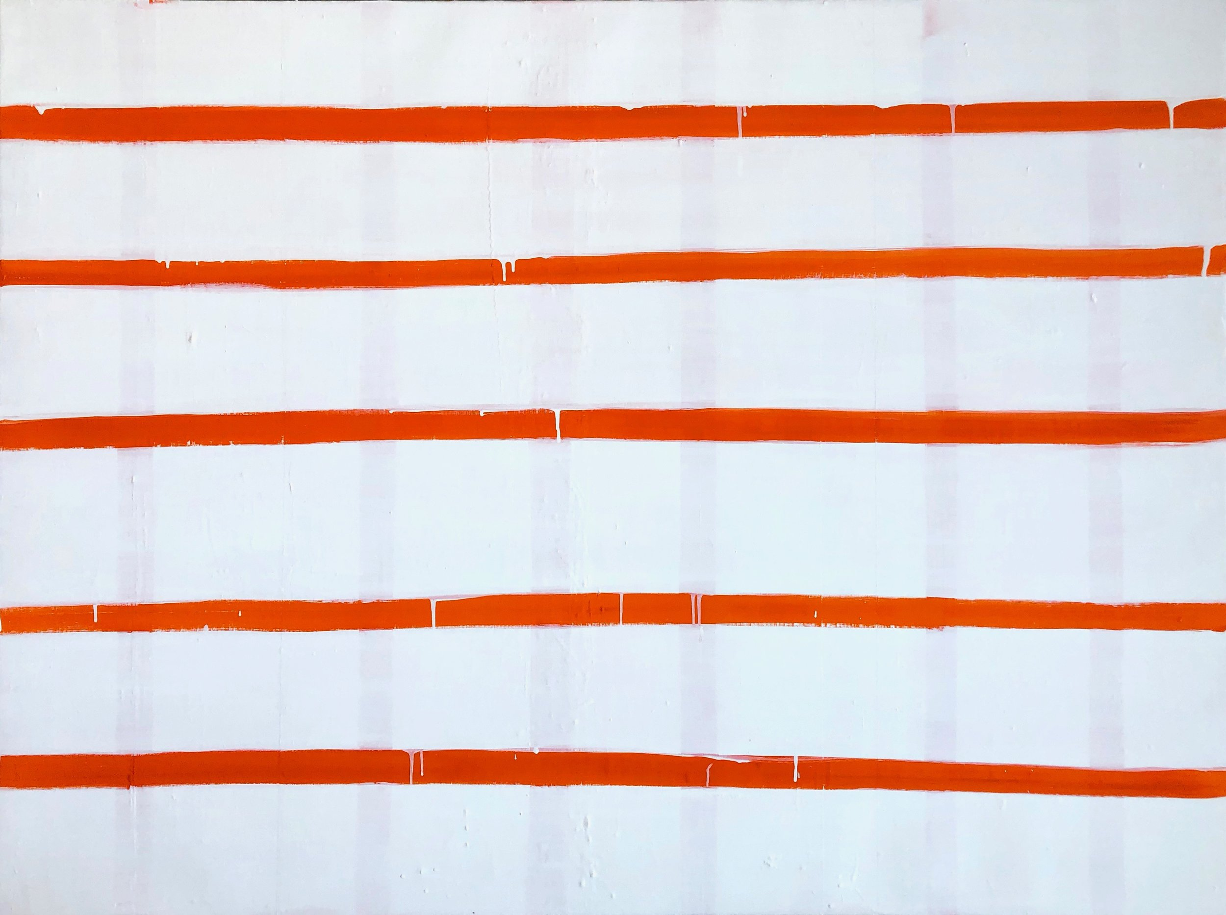 Stripe in Pyrrole Orange