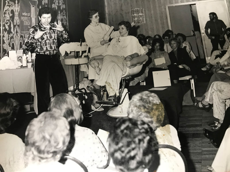 Edward as the guest artist at the Portland Beauty show 1975. Check out the Hair Dresser's hair in attendance! :)