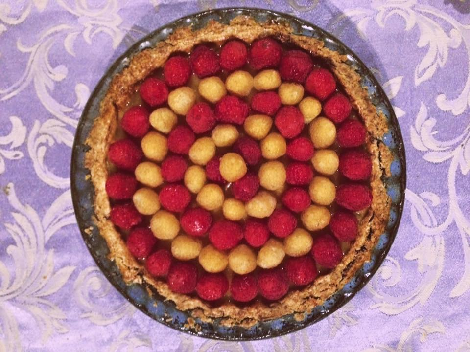 Raspberry citrus tart