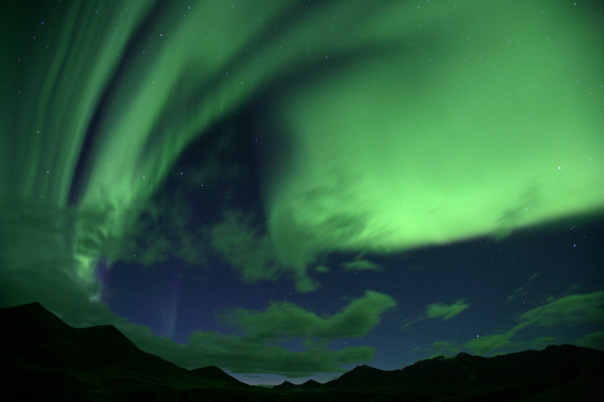 Northern Lights over the Mackenzie Mountains, Northwest Territories