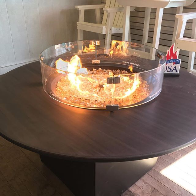 Everyone loves fire!!! I have these two on clearance! The rectangle is under $2000. #madeintheusa