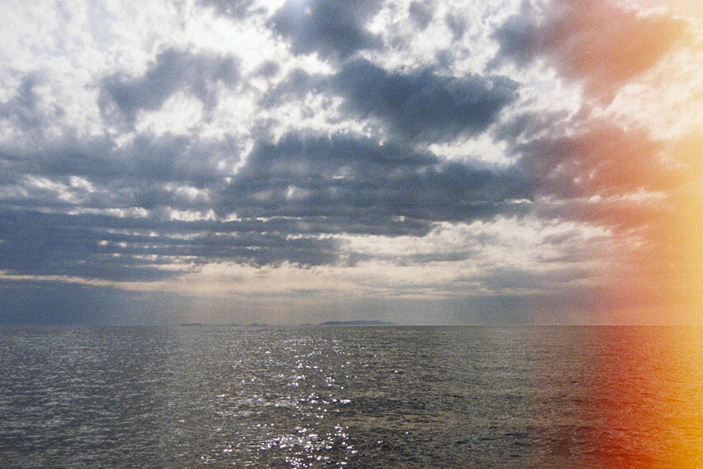 Sardinian Sea with clouds