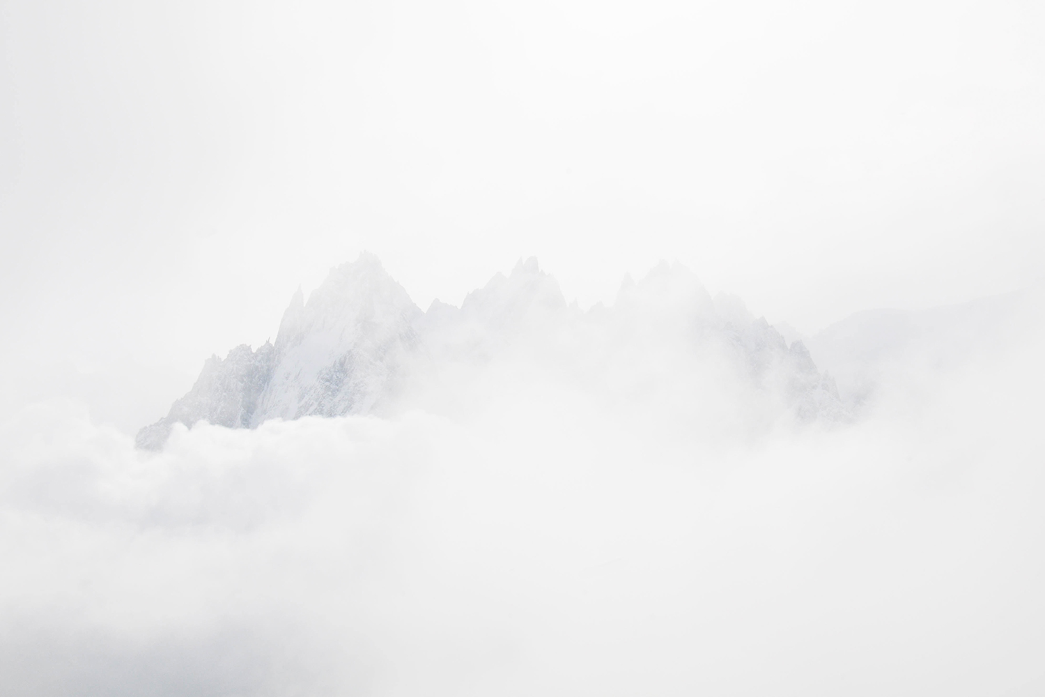 Mont-Blanc massive with clouds
