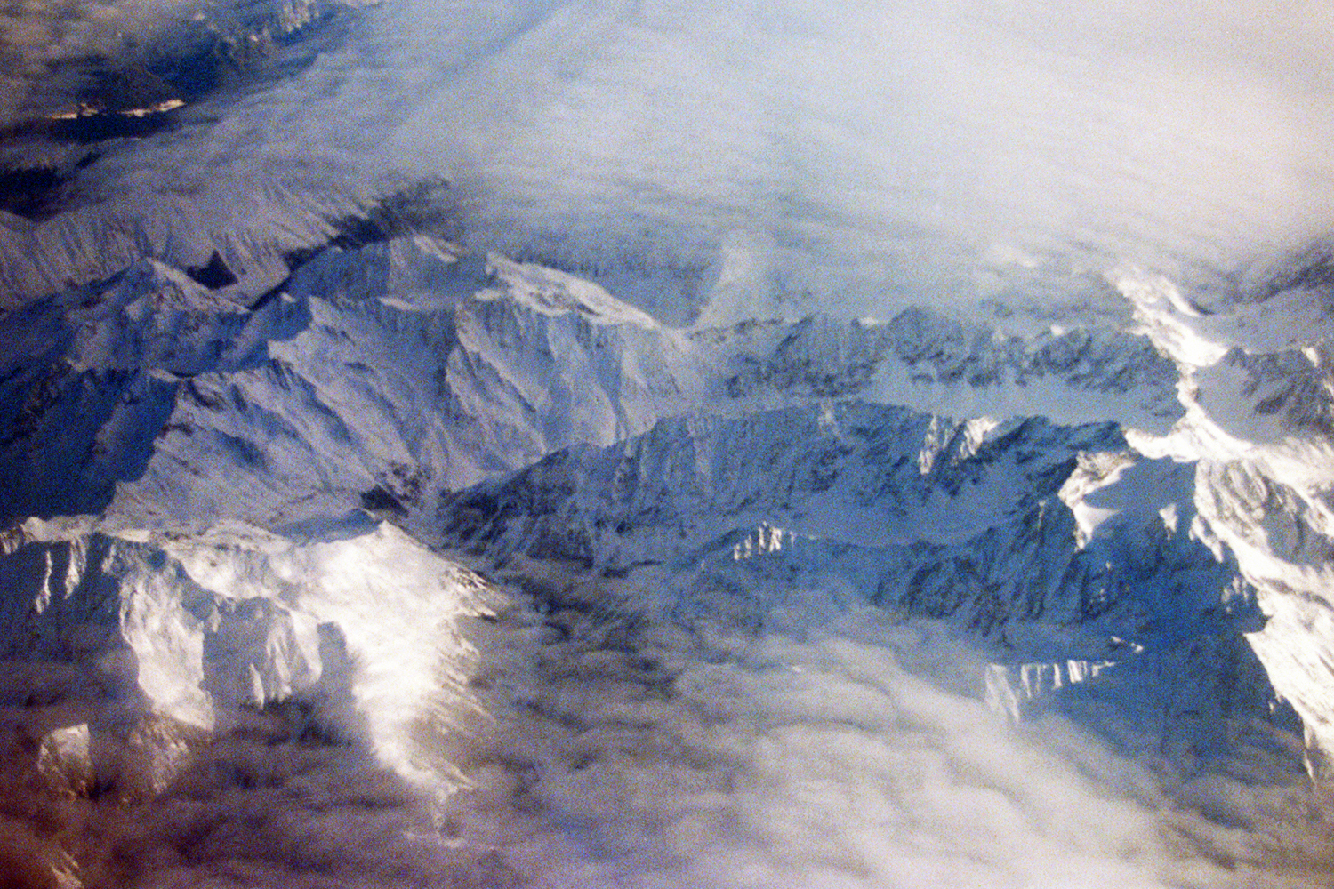 Alps from a plane window