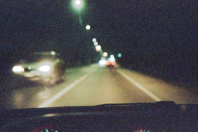 City lights driving
