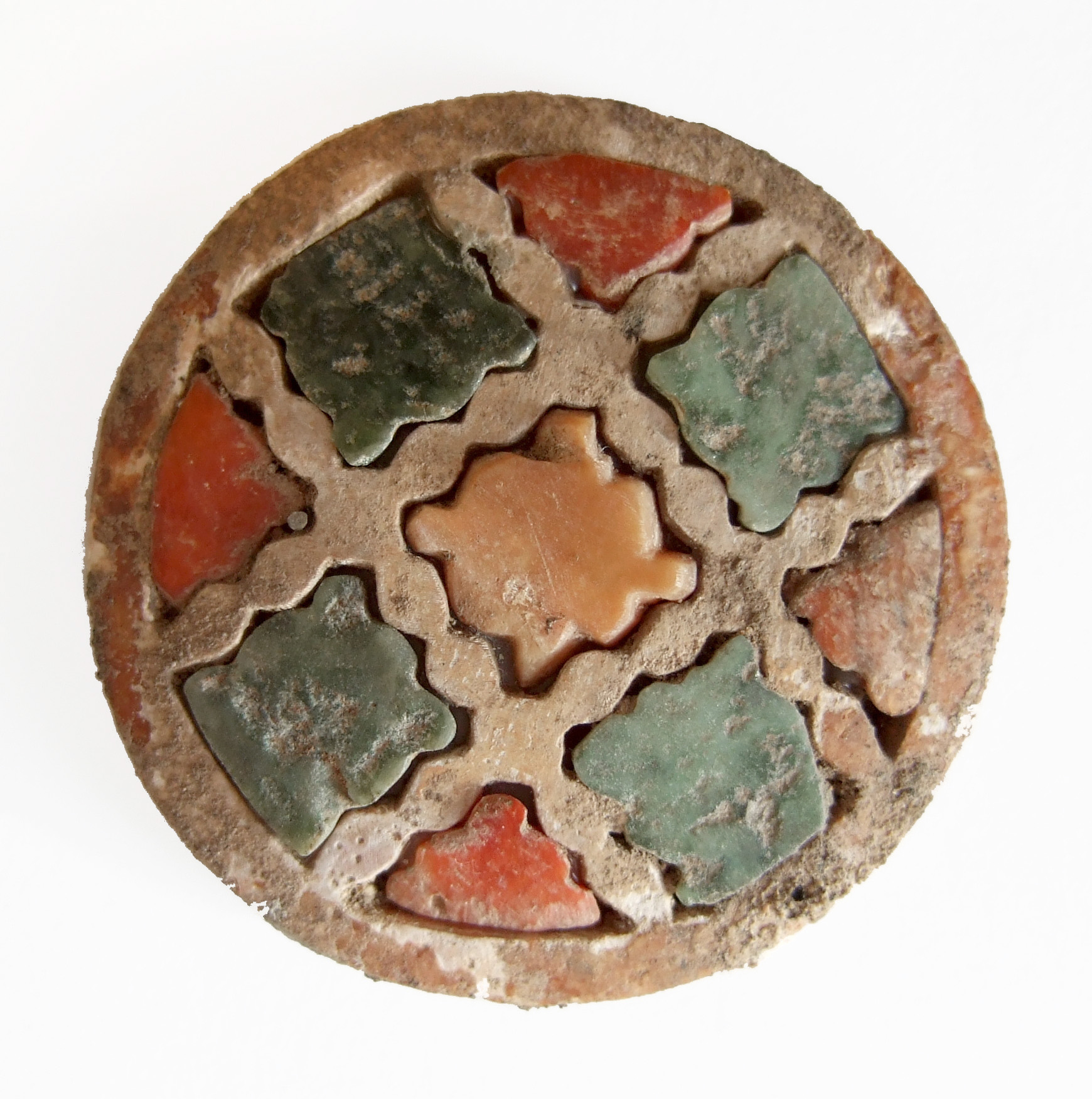 A Bactrian inlaid roundel