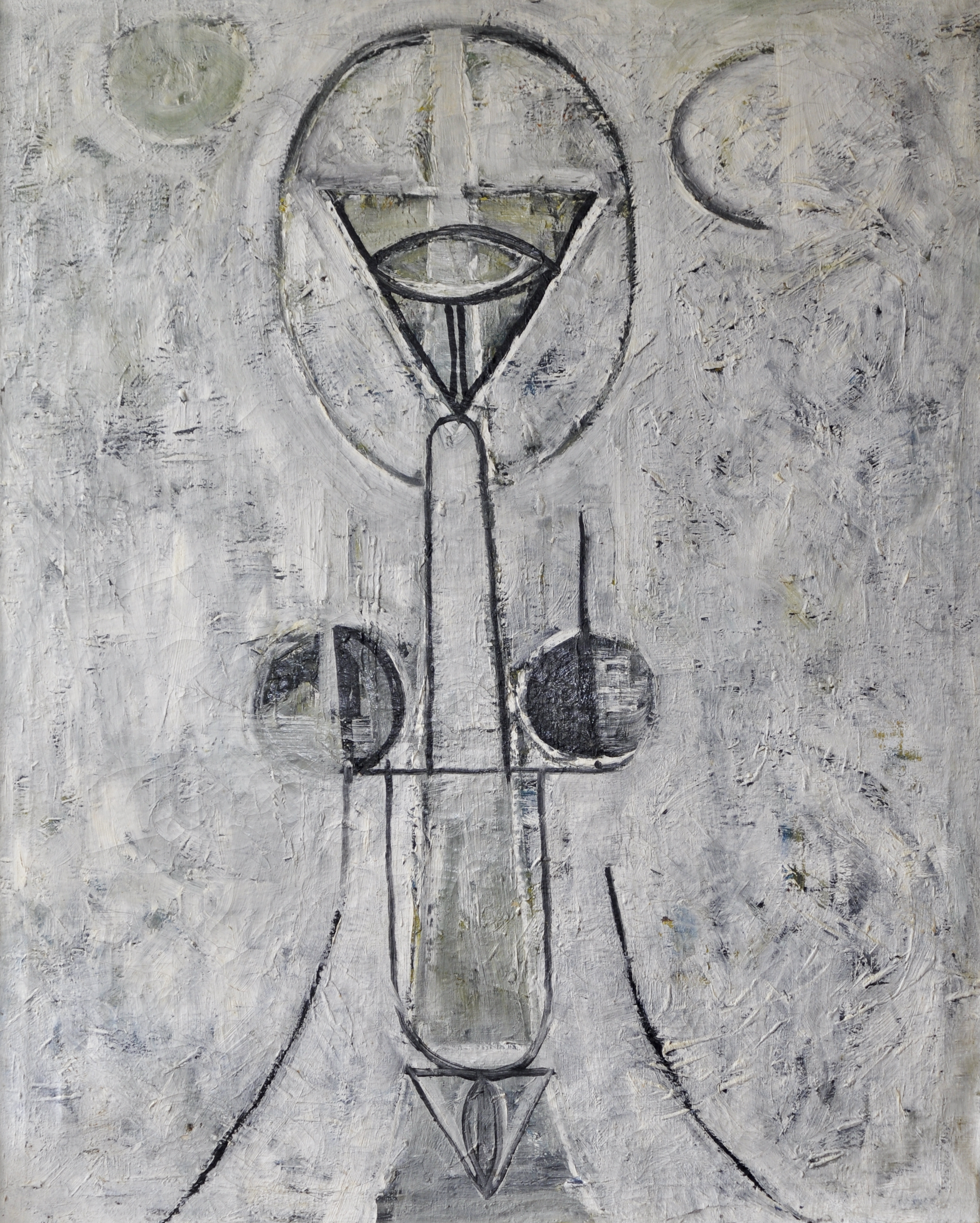 Avinash Chandra (Indian, 1931-1991) 'Figure in a City'