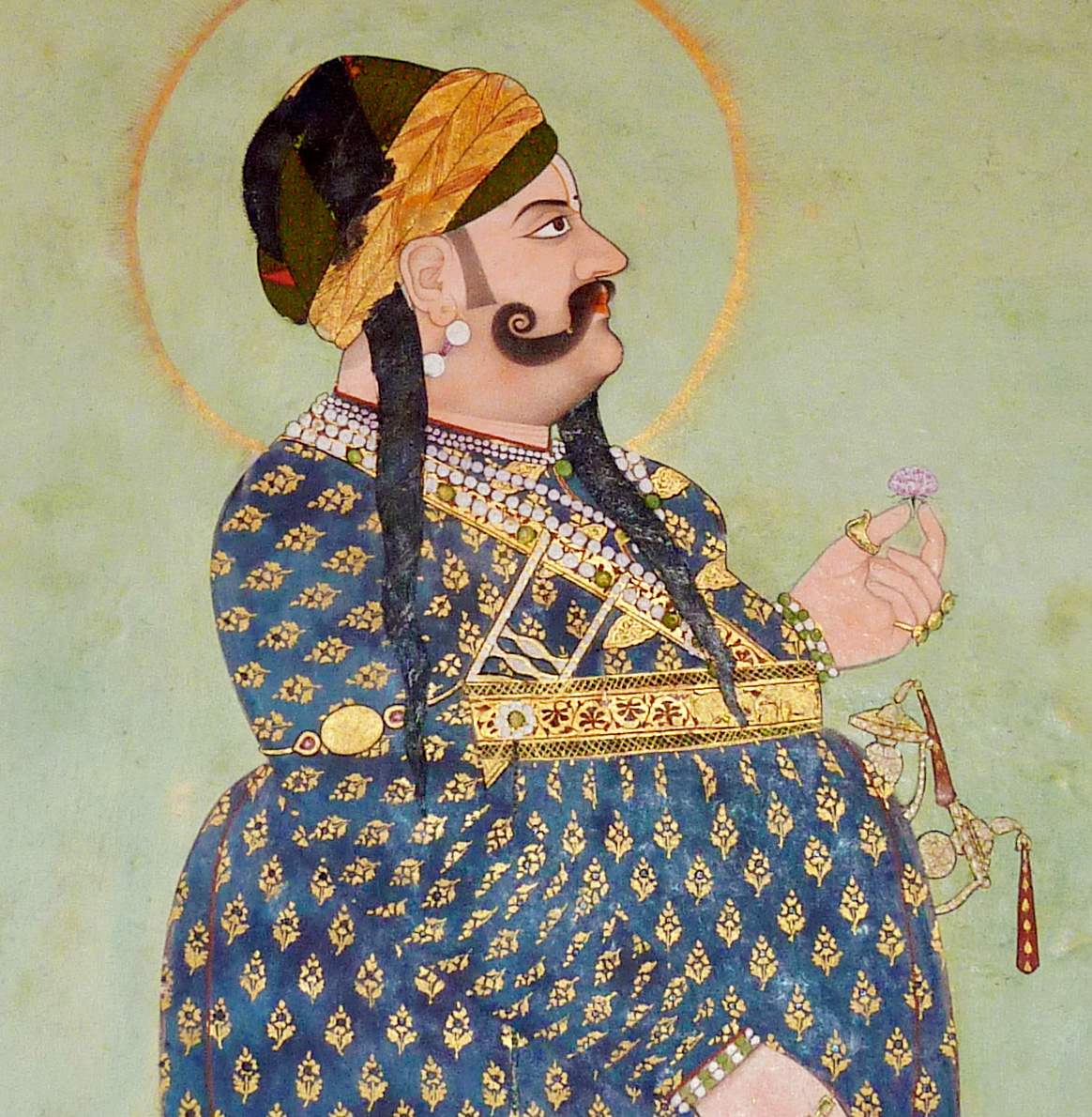 Portrait of Maharaja Sawai Madho Singh I (detail)