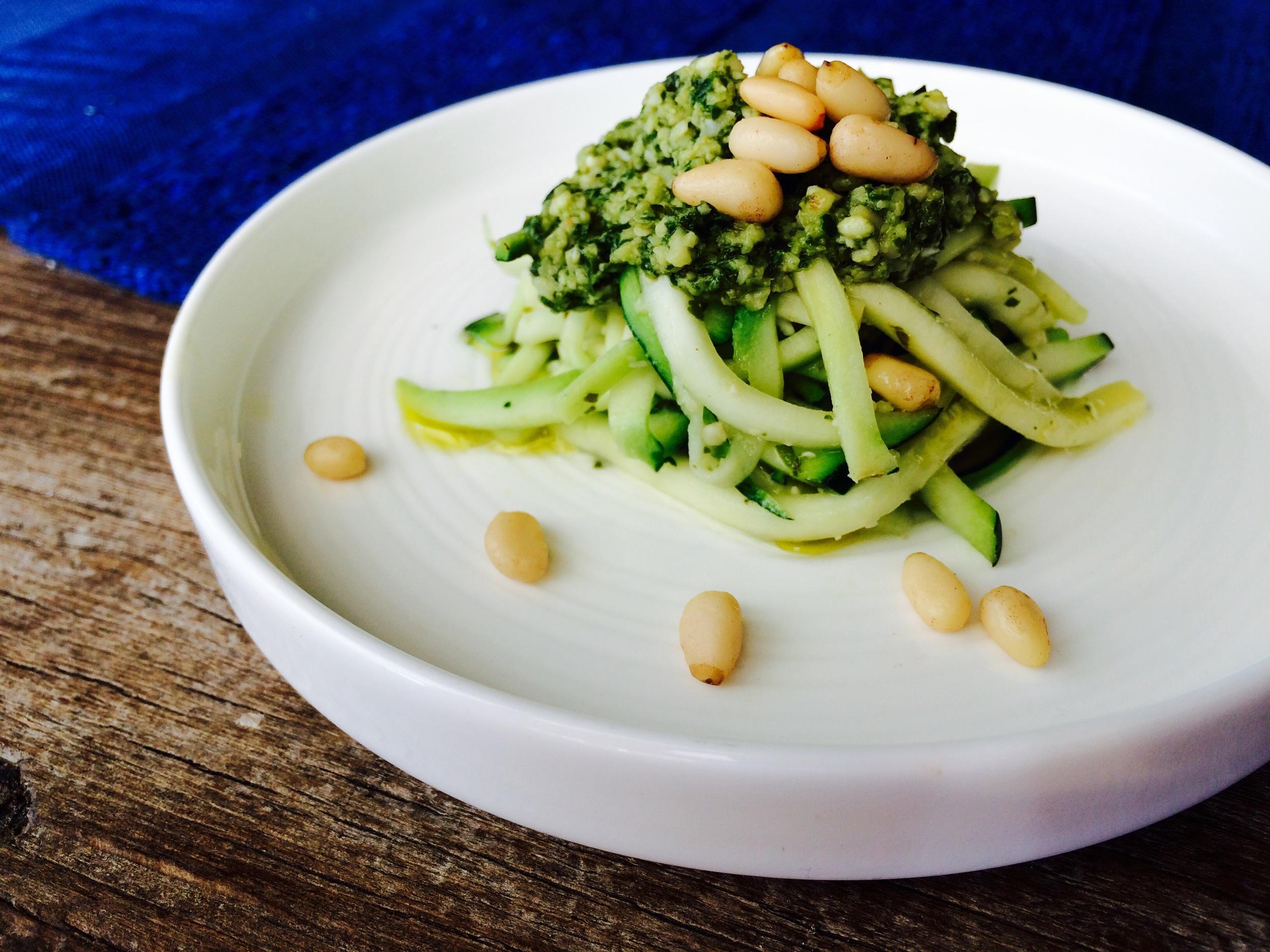 Pesto Pasta / PALEO-fied  ©  Chef Jöne Pan