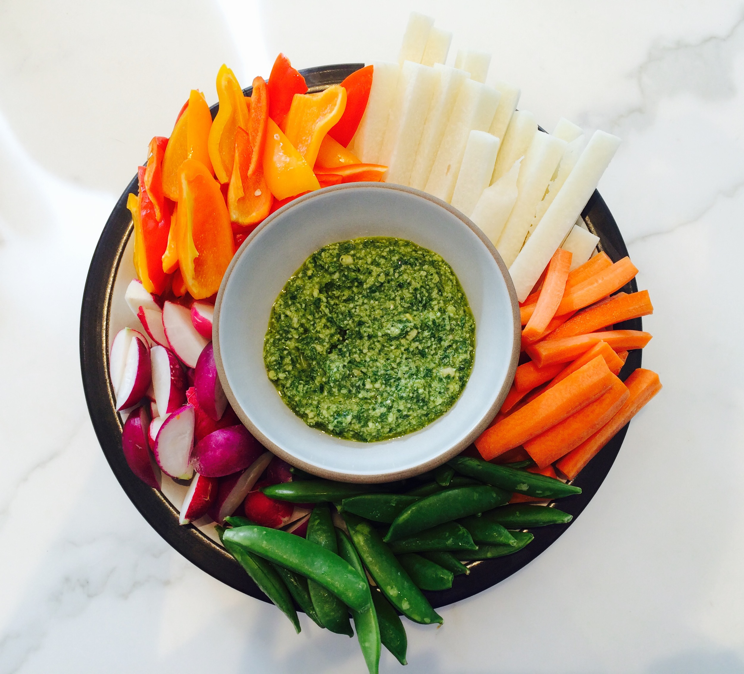 Pesto as a dip / PALEO-fied   ©   Chef Jöne Pan