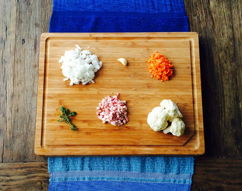 Mise en Place / Cauliflower Rice   ©   Chef Jöne Pan