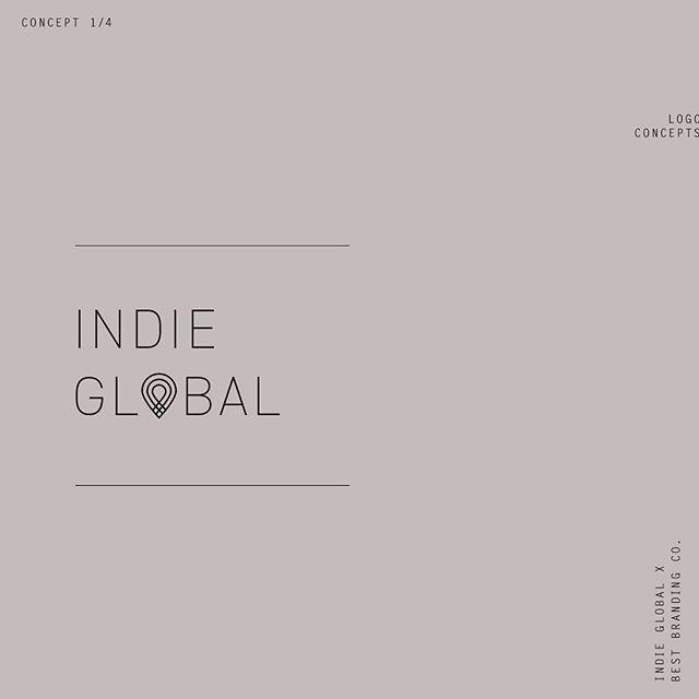 《 logo concepts 》  indie global 𝗫 best branding co.