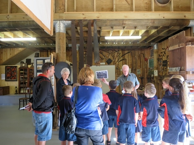 Karaka School on a recent visit to the Museum.