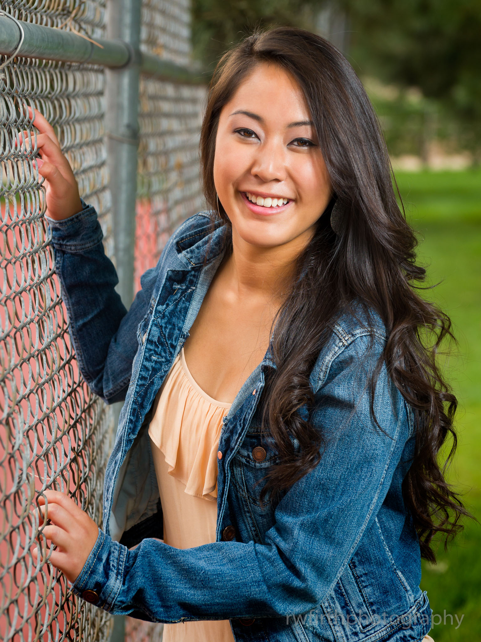 High school senior Crystal during a senior photography session in 2014.  The venue for this session was the City of Colorado Springs demonstration gardens.  Photo by Richard Firth, R.W. Firth Photography.
