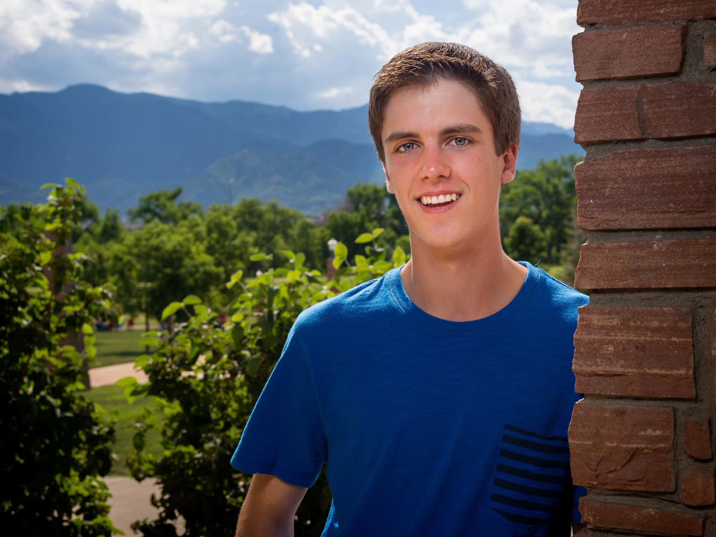 Brett P. from Coronado High School.  Senior photo session, 2015.