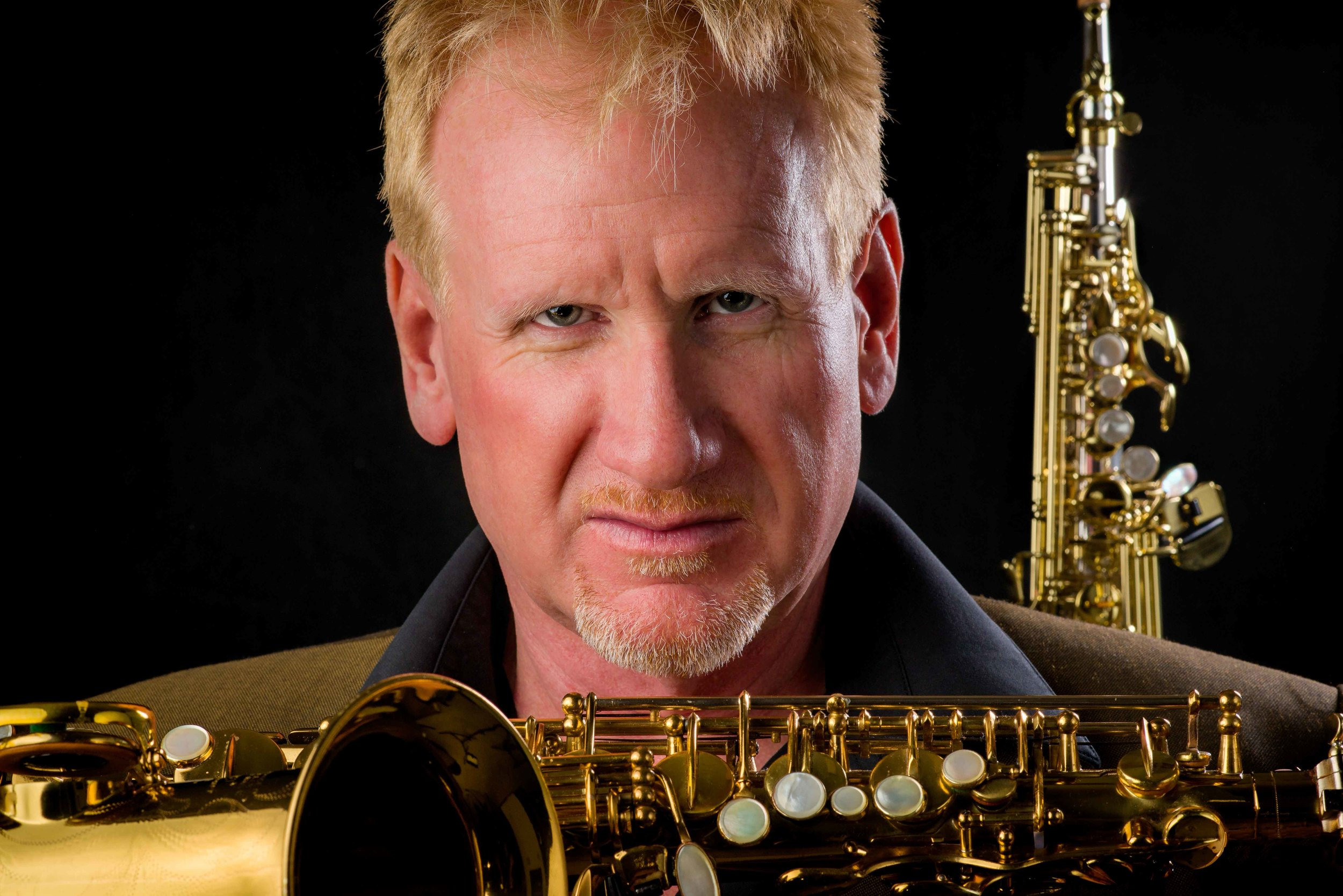 Terry Landry, professional jazz musician.  Publicity portfolio shoot.