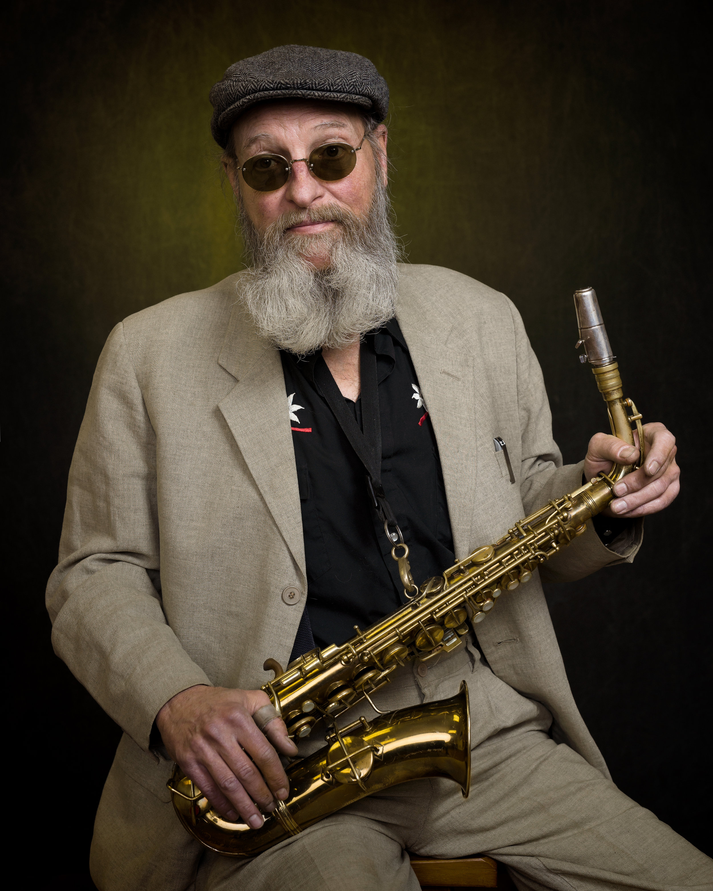 Mike Urban, business owner and saxophonist