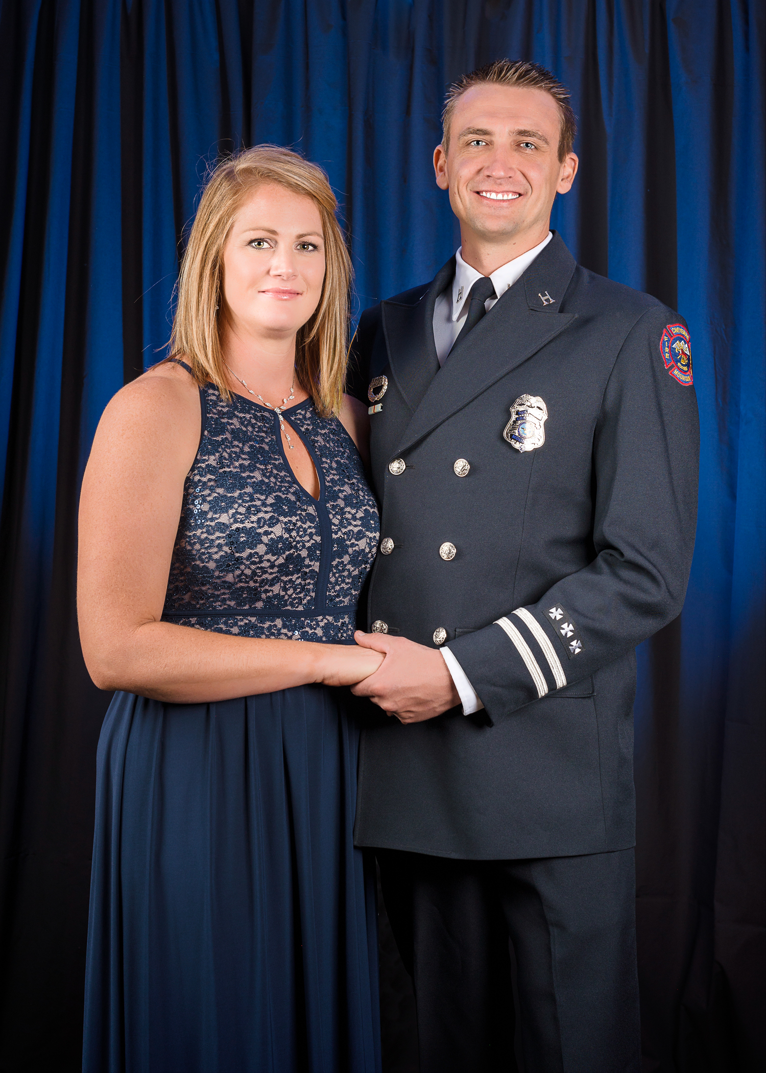 Couple's Portrait at the 2018 D.o.D. Firefighter's Ball