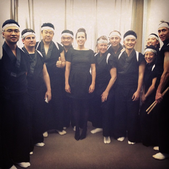 With  Taiko Ensemble , Lincoln Center, 2014  (Conductor)